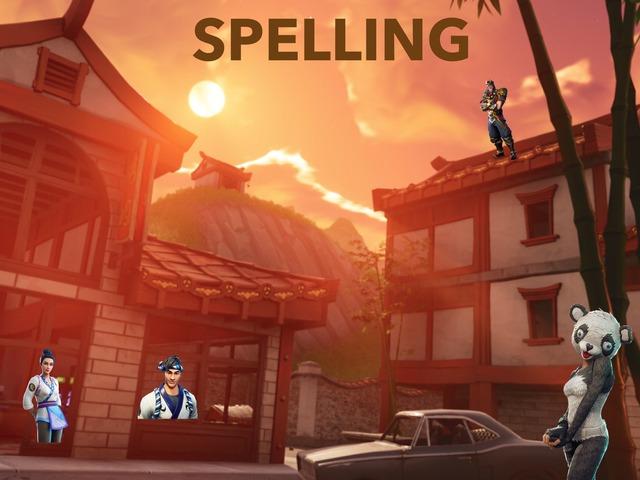 SPELLING VT TT by jayden Kelly
