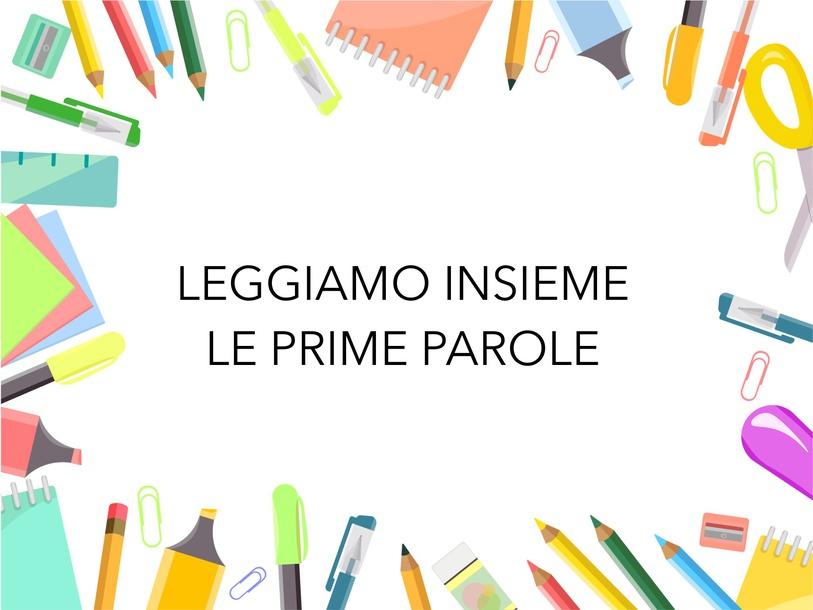 Leggiamo Le Prime Parole by Alessandra