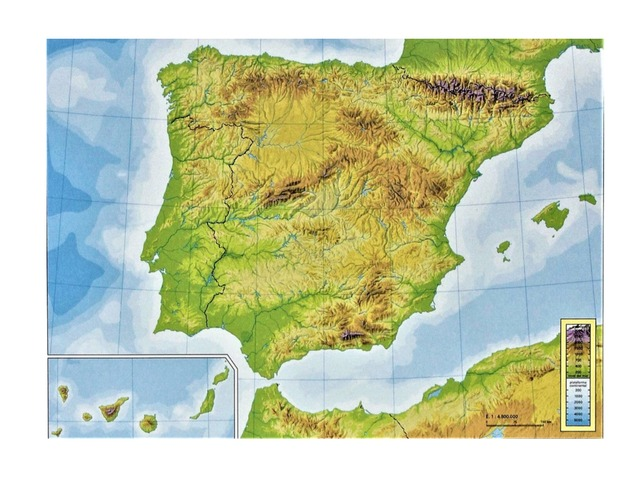 Mapa Sistemas Montañosos De España by Pablo Hernandez Cejudo