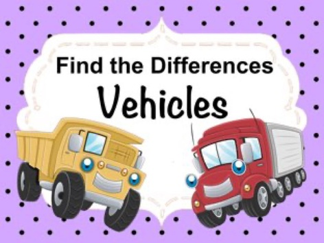 Find The Differences - Vehicles by Ellen Weber
