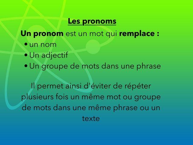 Les Pronoms by lilipop lili