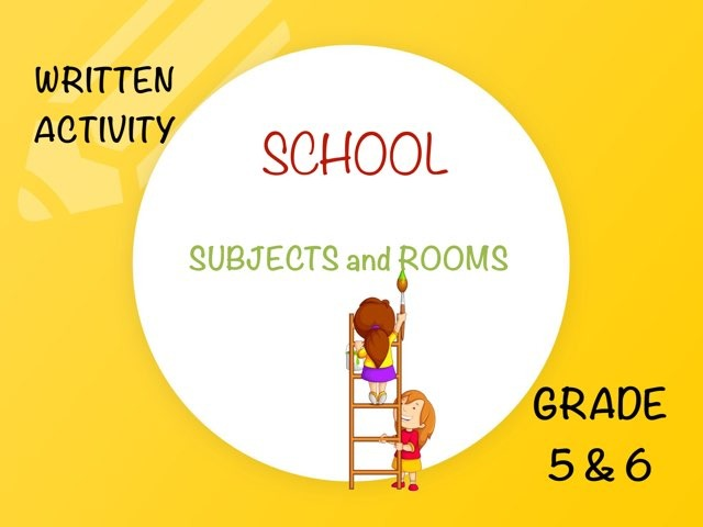 SCHOOL : SUBJECTS & ROOMS (writing) by Laurence Micheletti