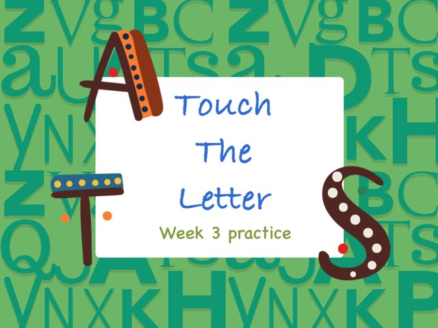Touch The Letter Phonics 1 Practice  by Tony Bacon