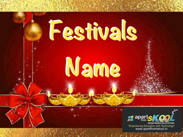 Festivals Name  by TinyTap creator