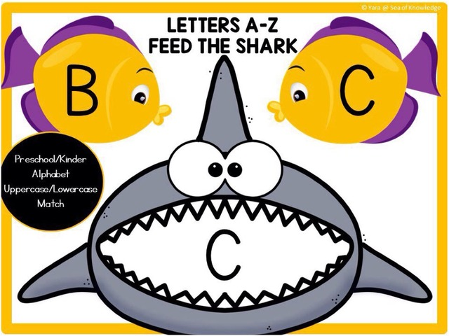 Letter Upper And Lowercase Matching - Feed The Shark by Yara Habanbou