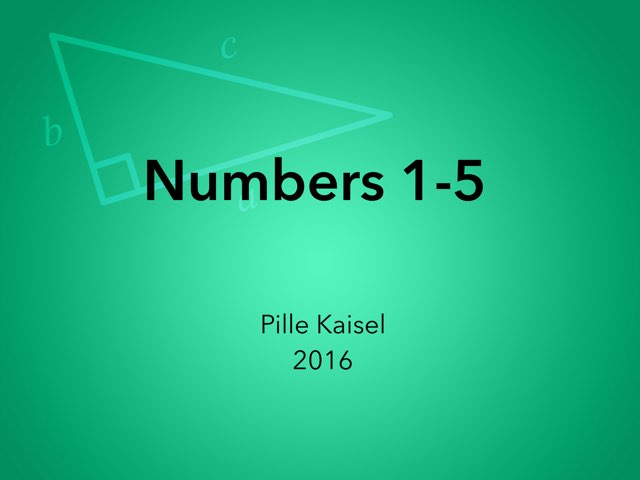 English numbers by Pille Kaisel