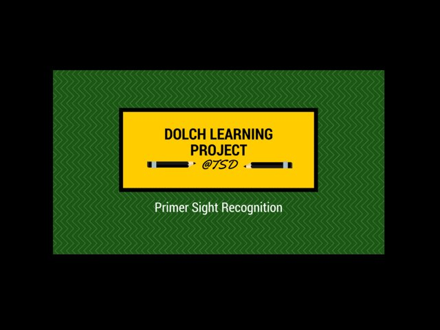 Vocabulary Introduction 1: Dolch Primer by TSD Library