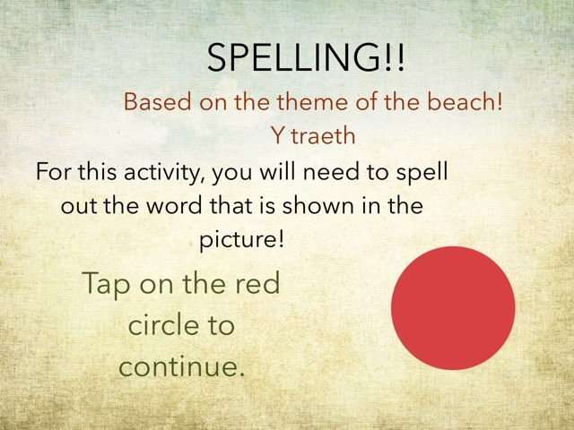 Spelling - The Beach by Gavin Thomas