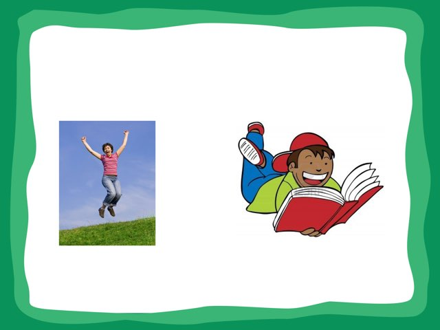 Select Verbs Given Two Picture Choices by Molly Beiting