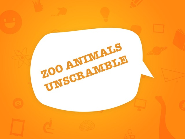 Zoo Animals Unscramble  by Miriam Todesco