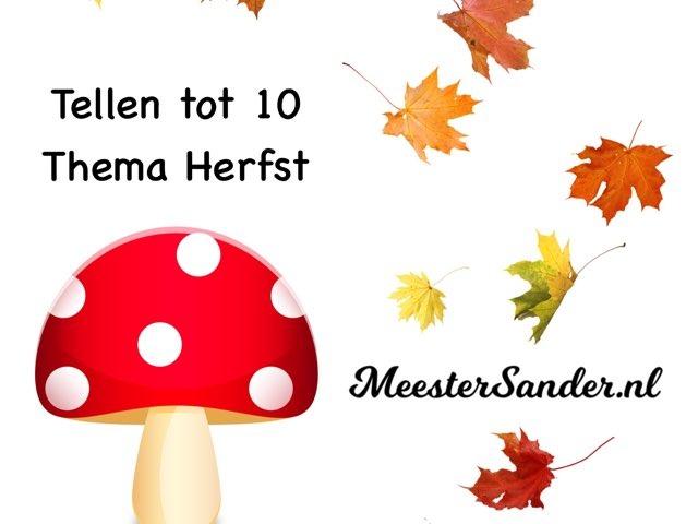 Tellen Tot 10 - Thema Herfst - Kleuters - MeesterSander.nl by Sander Gordijn