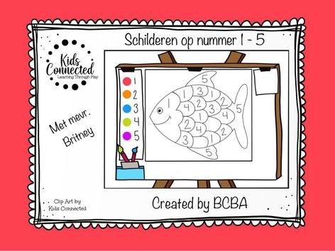 Schilderen Op Nummer 1 - 5 Vis by Kids  Connected