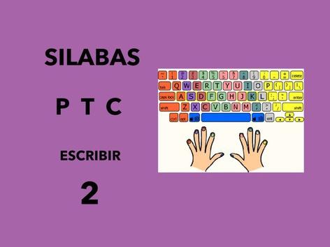 Silabas P,T,C Escribir by Francisca Sánchez Martínez