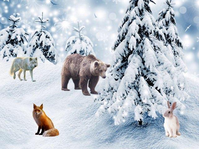 Лесные Животные В Зимнем Лесу by Алена Молоднякова