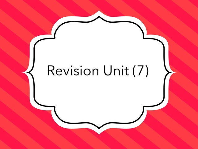 Unit (7) by lots salm