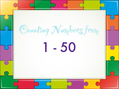 Counting Numbers From 1-50 by Michelle Cabalo