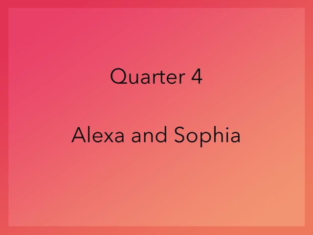 Math quarter 4  by Alexa Panzini