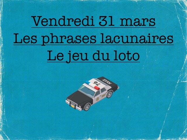 M - Ven31 - Phrases Et Loto by Caroline Gozdek