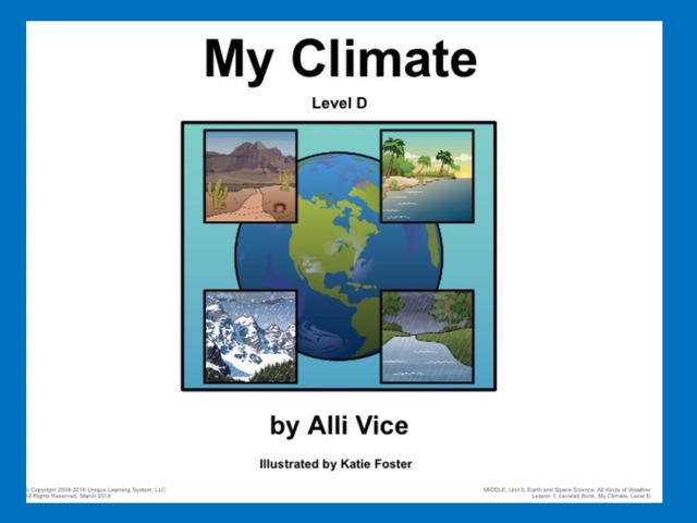 April Unique Unit: My Climate by Tanya Folmsbee