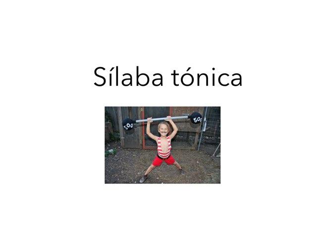 Sìlaba Tónica by David Pazos Lago