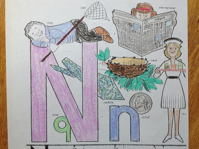 Letter N by Christine Snow