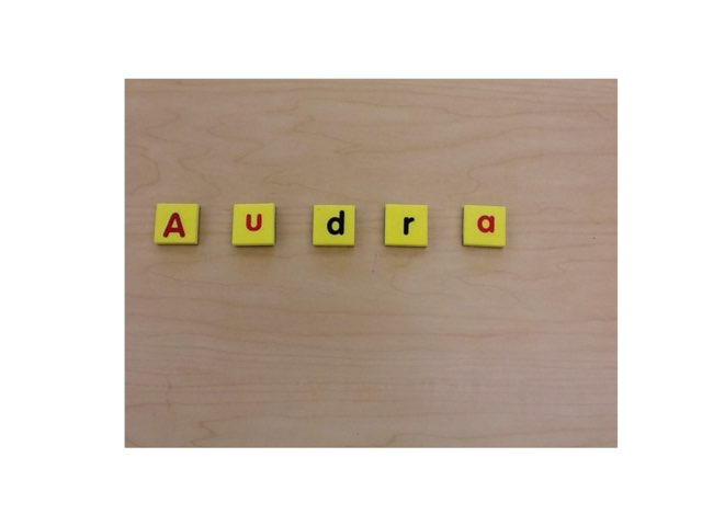 Audra's First Name by Megan Lecrone