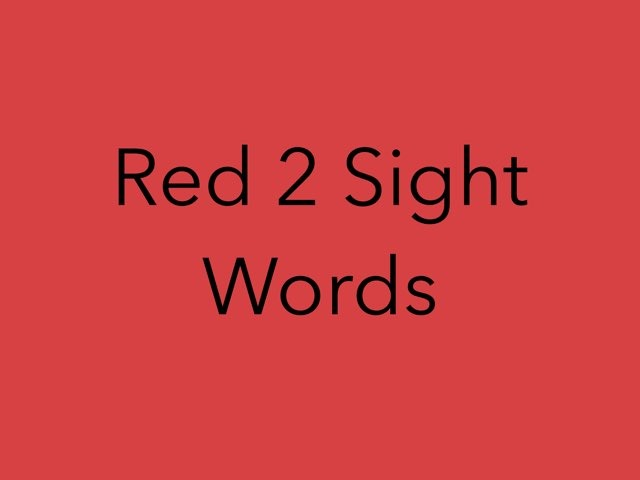 Red 2 Sight Words.No 14 by Sonia Landers