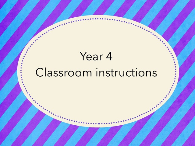 Y4 T1 Instructions by Katie English