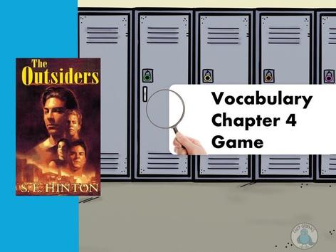 The Outsiders Ch.4 Vocabulary Game by Iliana Navarro-Chiessa