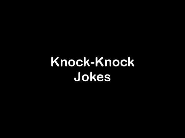 Knock Knock Jokes by Maleah Stewart