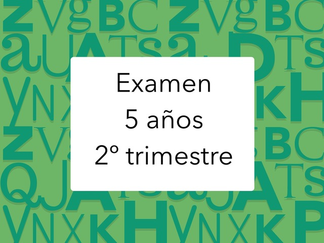 Examen 2º Trimestre by Mayte Jerez