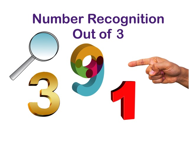 Number Recognition Out Of 3 by Jennifer Cunningham
