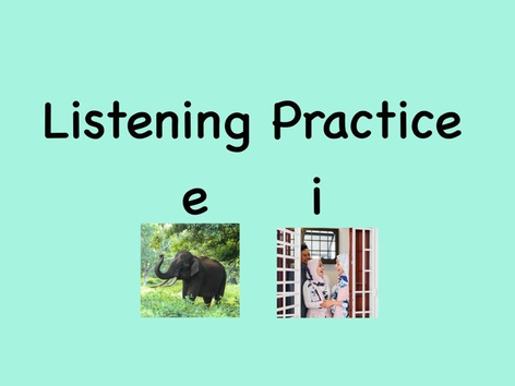 SHC Listening Practice Short e and i by Sara Anderson