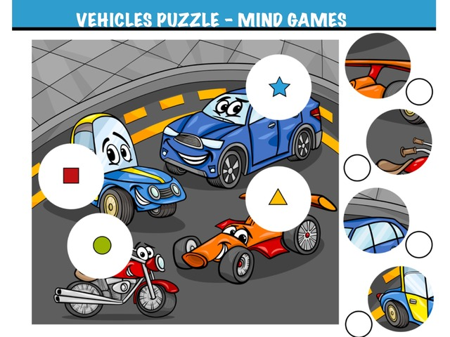 Vehicles Puzzle Mind Games by Hadi  Oyna