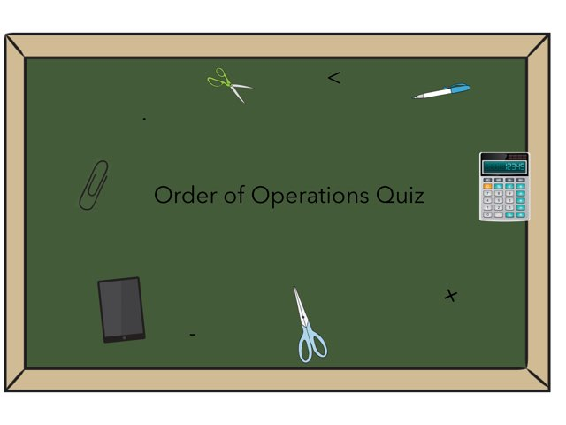 Order Of Operations  by Amber Strapponi
