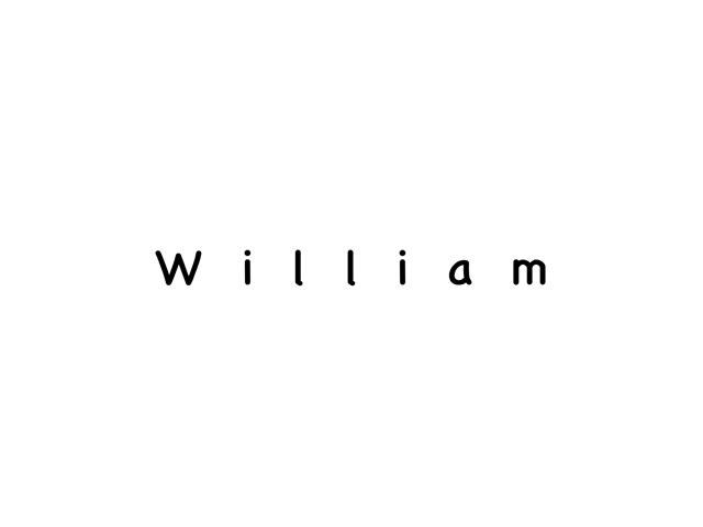 William's Name Puzzle by Beth Miragliotta