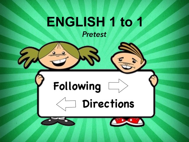 Directions Pretest by Ellen Weber