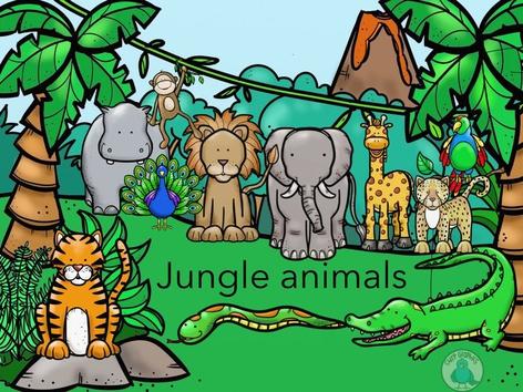 Animals In The Jungle by Zubaidah Zain