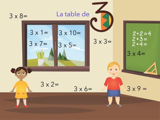 Table De 3 Multiplication by Virginie Kaiser