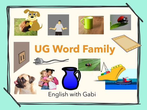 Lesson 18: UG Word Family- Phonics & Sight Words by English with Gabi אנגלית עם גבי