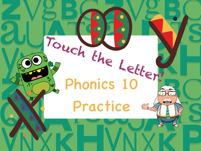 Touch The Letter Phonics 10 Practice  by Tony Bacon