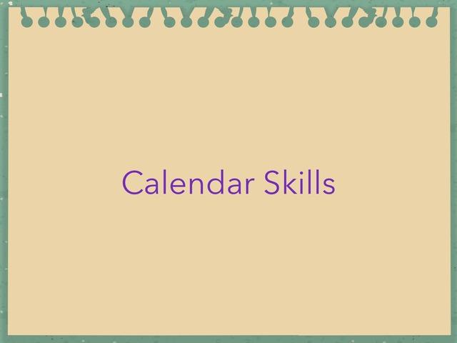 Calendar skills by chris Barlage