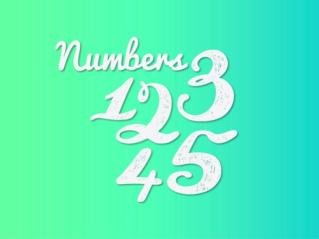 Numbers 1-5 by Lisa Fryer