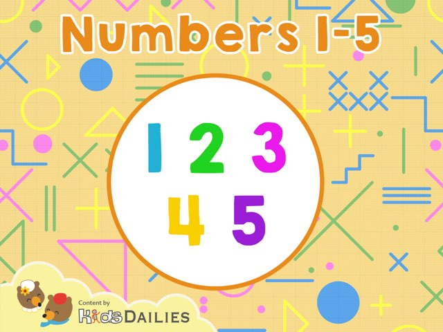 Numbers 1 to 5 by Kids Dailies