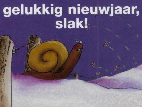 Gelukkig nieuwjaar, Slak! by Janine