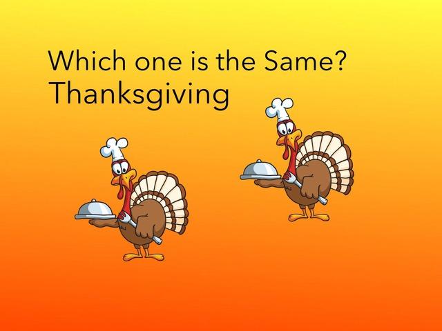 Same: Thanksgiving  by Carol Smith