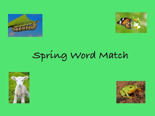 Spring Word Match by Victoria Benn