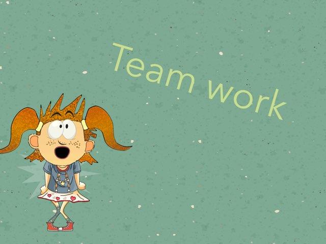 Team work . by Razan Al-Malki