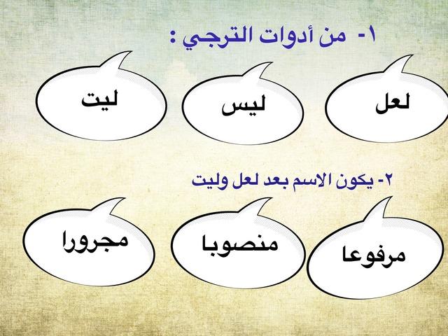 أسلوبا الترجي واتمني by منيرة الحربي