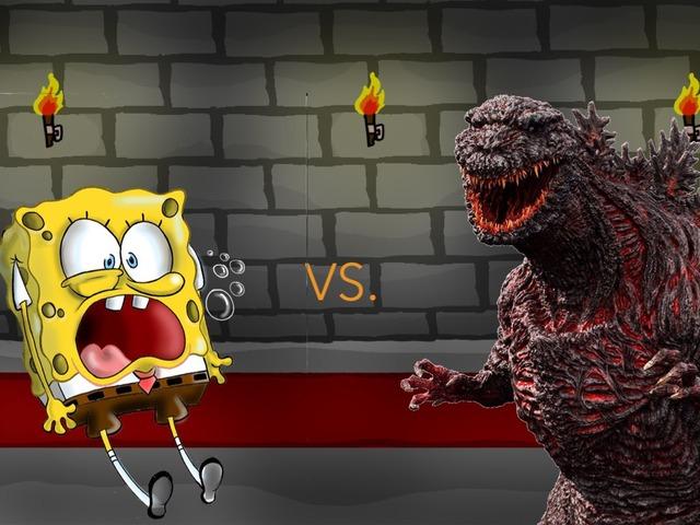 SpongeBob Vs Godzilla by George awrahim
